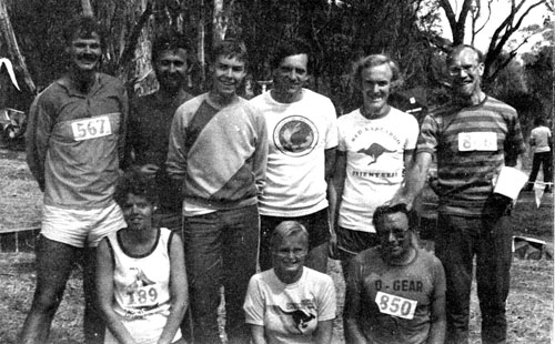 Group photo of Red Kangaroo orienteers